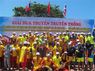 Giải đua thuyền truyền thống tỉnh Quảng Bình mở rộng các nước Lào, Thái Lan năm 2016